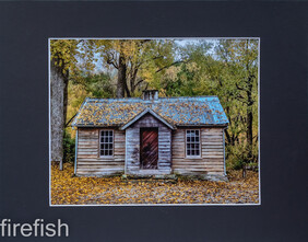 Arrowtown Old Gold Store Autumn with Mat